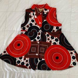 Vintage 70's girl's linen dress